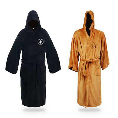 Star Wars Bathrobe (Star Wars Flannel Hooded Bathrobe Male Thick Jedi Empire Men's Winter)