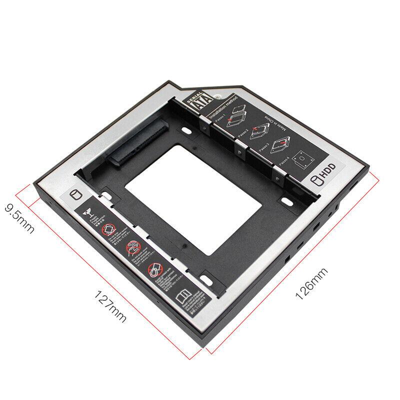 Aluminum LED 2nd HDD Caddy 9.5mm SATA 3.0 2.5