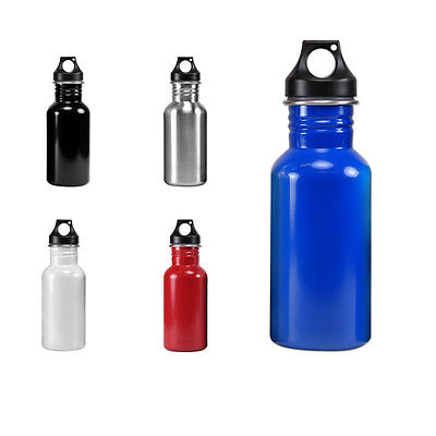 Wide Mouth 17 oz, 500 mL Stainless Steel Water Bottle - BPA Free 17 Ounce Stainless Bottle