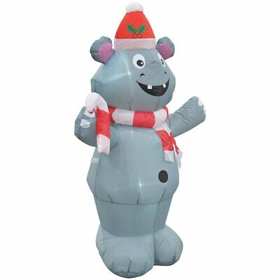 Jeco Giant Weather Resistant Polyester Inflatable LED Christmas Gray Wolf