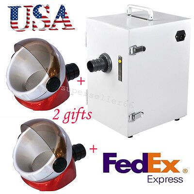Usa Ce Dental Digital Single-row Dust Collector Vacuum Cleaner 2x Suction Base