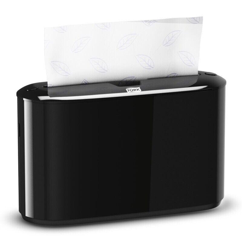 Tork Xpress Countertop Multifold Paper Hand Towel Dispenser, Black, 302028, New,