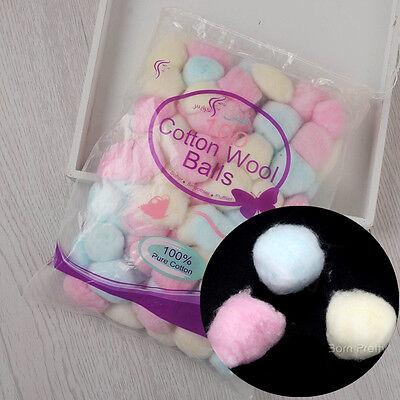 100pcs/Bag Colorful Wool Balls UV Gel Nail Polish Remover Nail Art Manicure Tool