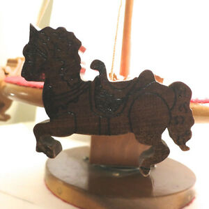 Vintage Toy Merry Go Round Hand Made Wood One of a Kind Folk Art Kitchener / Waterloo Kitchener Area image 6