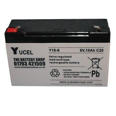 Yucel Y10-6 6V 10AH Como Y12-6 12AH Juguete Eléctrico Batería de Coche...