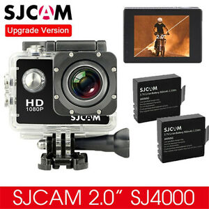 Original-SJCAM-SJ4000-HD-1080P-Cam-Sports-Action-Waterproof-Camera-2x-Batteries