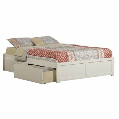 Atlantic Furniture AR8042112 Concord Bed, Queen, White
