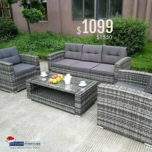Brand New OASIS II - 5 Seater Rattan Outdoor Furniture Set
