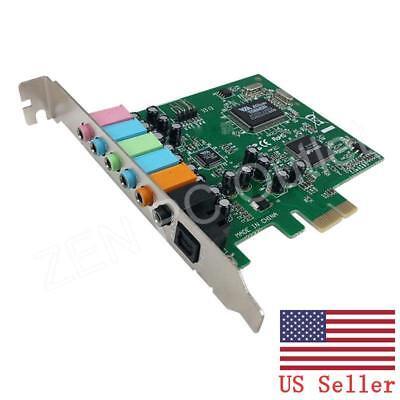 PCI-E PCI Express 8 Channel 7.1 SPDIF Audio Sound Card US Stock