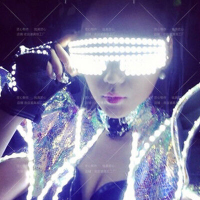 LED Stage Lights Glasses Laser Glasses DJ Nightclub Music Bar Party Halloween - Halloween Party Night Club Music