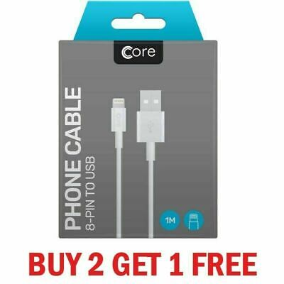 Boxed Core iPhone 11 X 6 5 7 8 Plus iPad Lightning USB Data Charger Lead Cable
