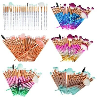 20Pcs/32 pcs Eye Makeup Brushes Tool Set Eye Shadow Foundation Powder Eyeliner