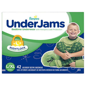 Pampers UnderJams Bedtime Underwear for Boys, Size Large/X-Large