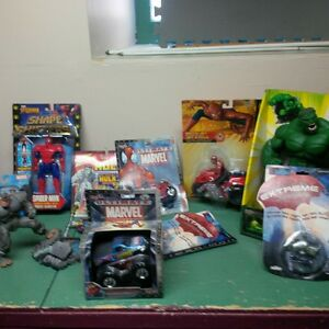 spiderman hulk and other collectibles