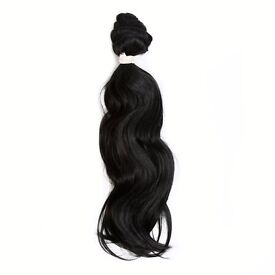 Body Wave Afro Weave Hair - 18 Inch - #1B Off Black