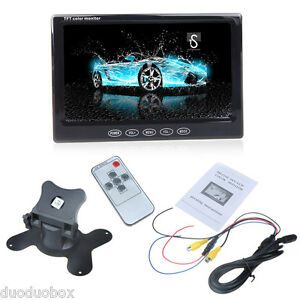 New 7 inch TFT LCD Car Auto Monitor Color Display Ultra Thin For Camera VCD DVD