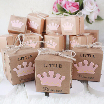 10Pcs Kraft Paper Baby Shower Favor Gift Box Candy Boxes Wedding Party Decor](Baby Gift Bags)