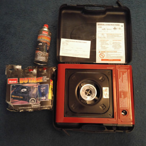 BRAND NEW PORTABLE GAS STOVE WITH REFILL TANKS