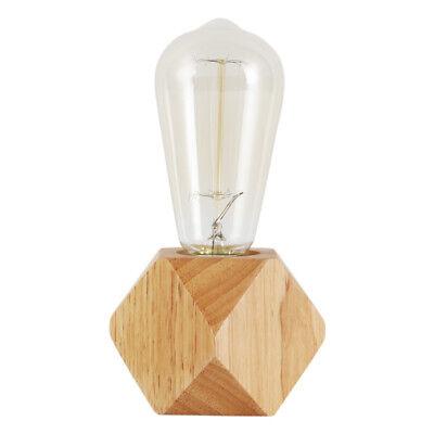Ikea Vintage Industrial Log Wood Table Light Edison Store Ba
