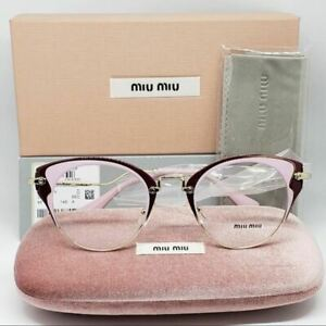 90bd29bd2a2 Miu Miu RX Cat Eye Eyeglasses Demo Lens Women s VMU 52PV U65-101