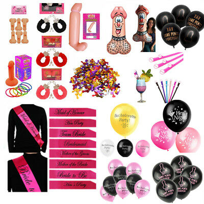Accessories Party (Hen Night Badge Sashe Willy Bopper Hen Party Novelty Funny Accessories)