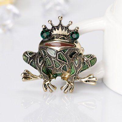 Frog Jewelry - Fashion Animal Frog Rhinestone Lapel Brooch Pin Jewelry Women Men Accessories