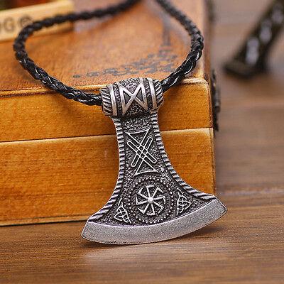 Amulett Anhänger Keltisch Germanisch Beil Axt Thor Hammer Mittelalter Sonnenrad