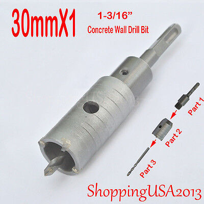 1X 30mm Concrete Drill Bit Hole Saw Cutter Tool  Cement Brick Stone Wall