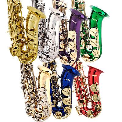 Mendini Eb Alto Saxophone Sax ~Gold Silver Blue Green Purple Red +Care Kit