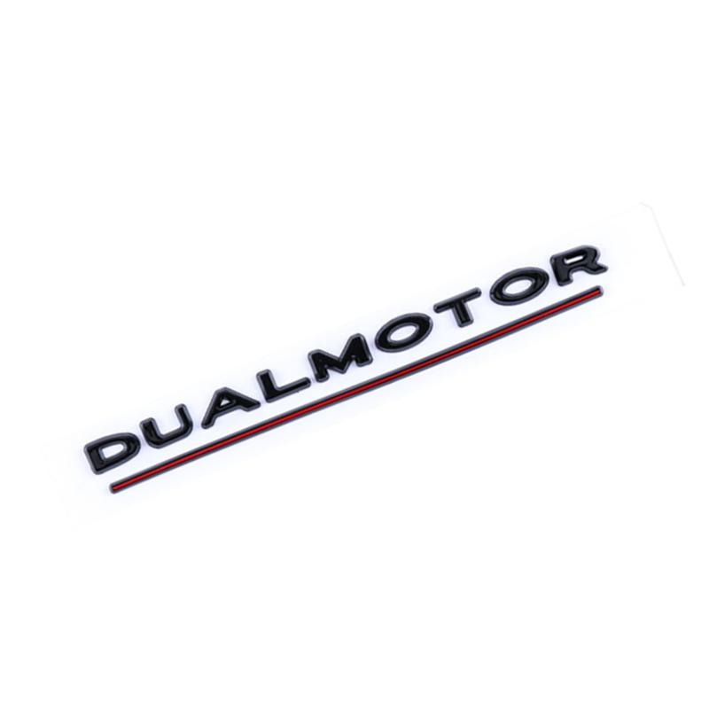 3D Dual Motor Performance Badge Car Emblem Decal Black For ...