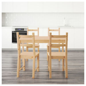 IKEA INGO / IVAR Table and 4 chairs, pine for Sale