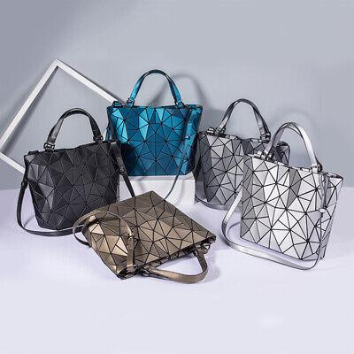 Damen Kordelzug Prisma geometrisch Design Leuchtend Damentaschen Schultertas Neu