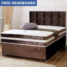 💫Brand new Divan beds with headboard and mattress