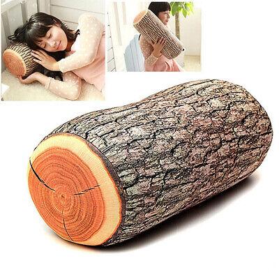 Wood Log Shape Soft Car Seat Head Rest Body Neck Support Thr