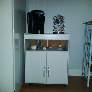 White Microwave Cart / Microwave Stand