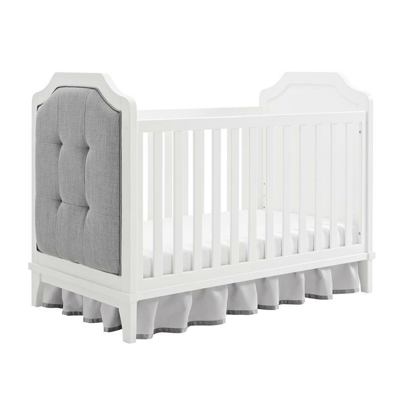 Baby Relax Cricket 3-in-1 Upholstered Crib in White