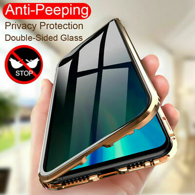 Phone Anti-peep 360° Magnetic Case Double Side For iPhone XR 11 Pro Max 7 8 XS
