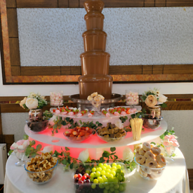 Chocolate Fountain Hire - LED Light Base - Dips - Extra Large Fountain