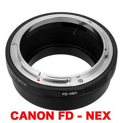 FD - NEX  Canon FD FL Objektiv Lens Adapter an -To Sony NEX Kamera E-Mount usato  Spedire a Italy