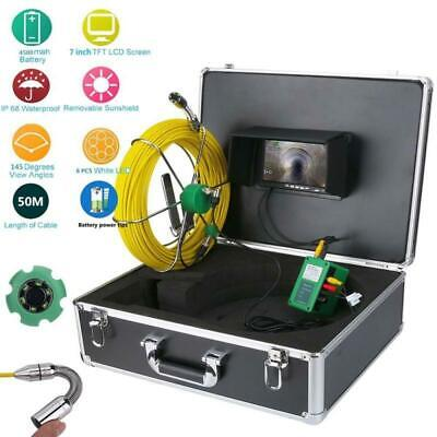50m 7 Inch Lcd Pipe Inspection Video Camera Drain Pipe Sewer Inspection System