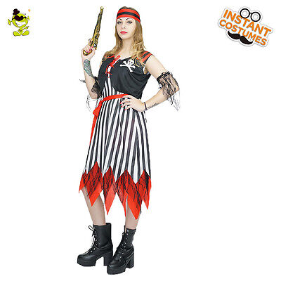 New Style Adult's Pirate Renaissance Wench Fancy Dress Costumes for Halloween](Pirate Halloween Costumes For Adults)