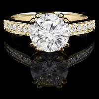 14k Or bague de marriage1.45CTW Superb diamond wedding ring