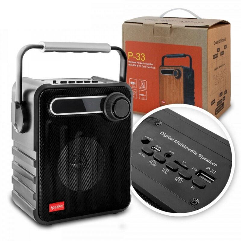 CASSA PORTATILE CON RADIO FM SD USB BLUETOOTH MP3 SMARTPHONE SPEAKER TABLET PC