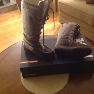 ETHNOBOOT HIGH LACE UP SEAL SKIN BOOT