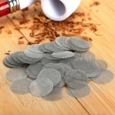 20Pcs 19Mm 0 74  Stainless Filters Tobacco Smoking Pipe Screen Filter New
