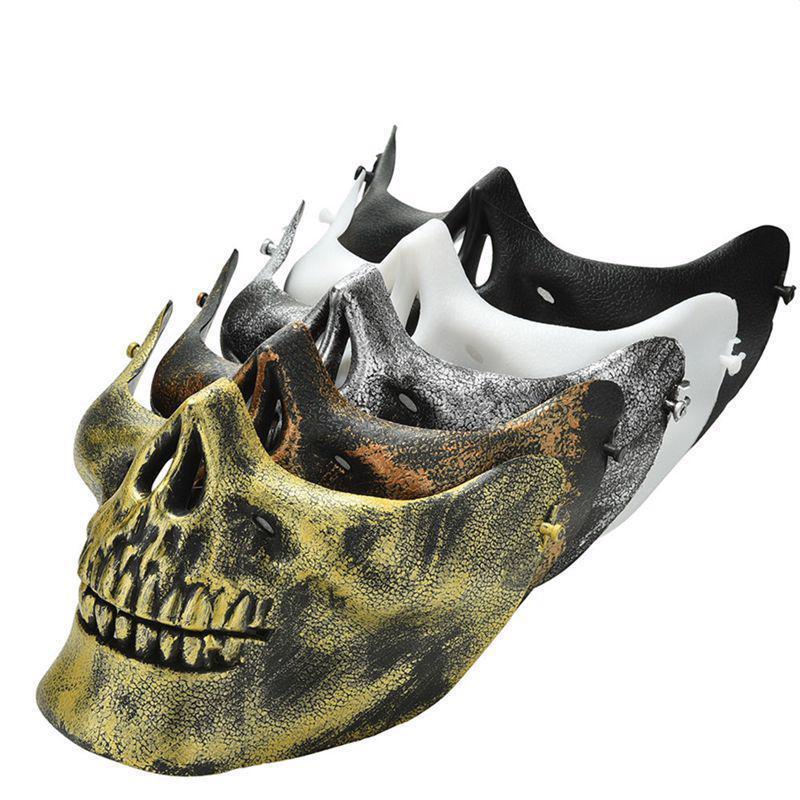 Details about Halloween Face Mask Cosplay Ghost Masks Skeleton Skull  Costume Half Party Biker