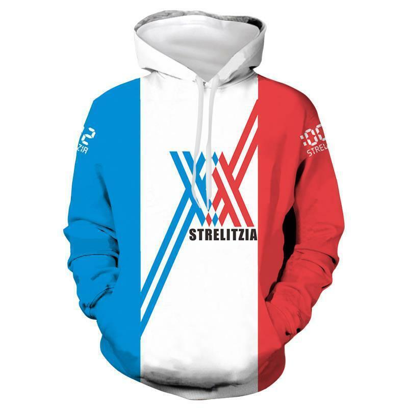 DARLING in The FRANXX Strelizia Sports Hoodie Pullover Sweater Sweatshirt Jumper Activewear