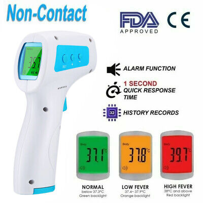 Non-contact Infrared Digital Forehead Thermometer Baby Adult Temperature Gun Gg