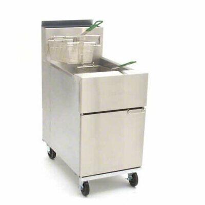 Frymaster Sr152g Dean 50lb Gas Deep Fryer W 6 Adjustable Legs 120000 Btus