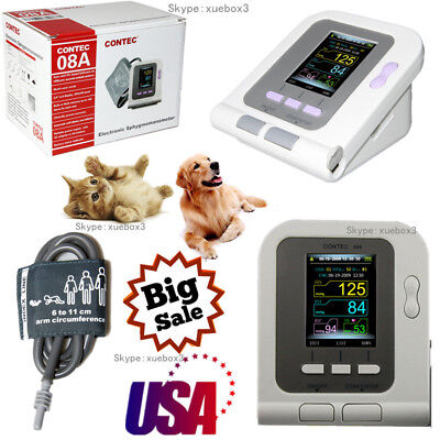 Contec08a-vet Digital Blood Pressure Monitorveterinaryvetanimal Nibp 6-11cuff